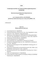Verwaltungsvorschriften zum Vollzug des Wohnungsbindungsrechts ...