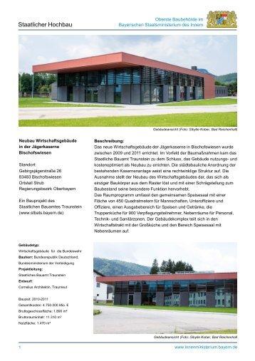 Neubau Wirtschaftsgebäude in der Jägerkaserne Bischofswiesen