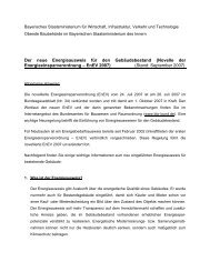 Energieausweise für den Gebäudebestand - Bayerisches ...