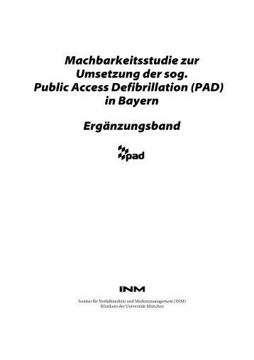 (PAD) in Bayern Ergänzungsband - Bayerisches Staatsministerium ...