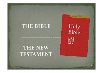 THE BIBLE THE NEW TESTAMENT - St Michael and All Saints