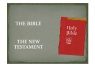 THE BIBLE THE NEW TESTAMENT - St Michael and All Saints Church