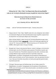 Liste der technischen Baubestimmung - Fassung Januar 2014