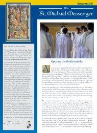 St. Michael Messenger St. Michael Messenger - St. Michael's Abbey