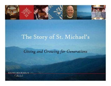 The Story of St. Michael's - St. Michael's Episcopal Cathedral