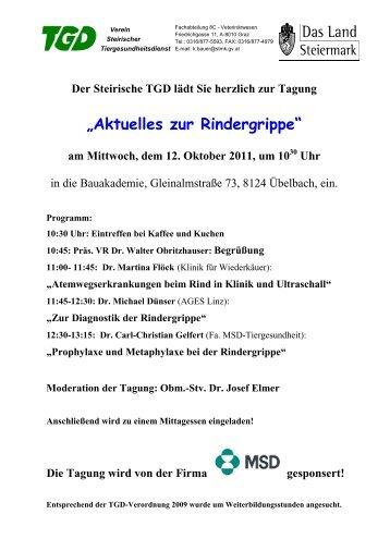 Aktuelles zur Rindergrippe - Der Steirische Tiergesundheitsdienst