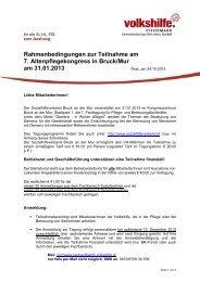 Rahmenbedingungen zur Teilnahme am 7. Altenpflegekongress in ...