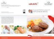Speisekarte Gourmet á la carte - Volkshilfe Steiermark