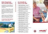 hauskrankenpflege. pflegehilfe. - Volkshilfe Steiermark