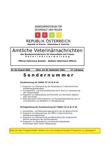 AVN - SN 8a/2004 - Der Steirische Tiergesundheitsdienst