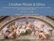 14. C13-C14 Christian Morals-Social Justice ... - St. Thomas More