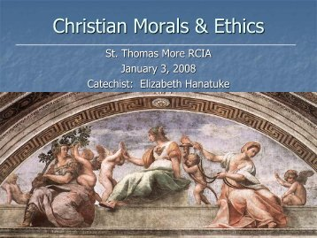 14. C13-C14 Christian Morals-Social Justice ... - St. Thomas More