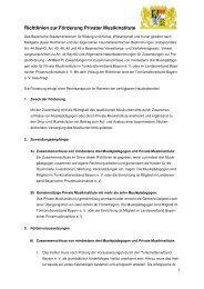 Richtlinien zur Förderung Privater Musikinstitute - Bayerisches ...