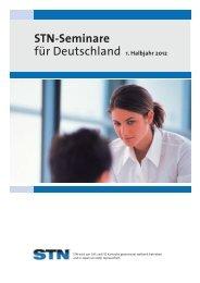 STN-Seminare für Deutschland 1. Halbjahr 2012 - FIZ Karlsruhe