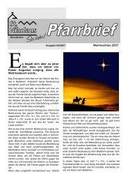Weihnachten 2007 - St. Nikolaus Wendelstein