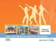 Marquis at Canyon Ridge Apartments Printable Brochure - Austin ...