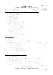 BIZTONSÁGI ADATLAP az EGK 91/155/EWG irányelve szerint ...