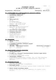 BIZTONSÁGI ADATLAP az EGK 91/155/EWG irányelve szerint