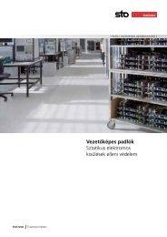 Vezetőképes padlók Sztatikus elektromos kisülések elleni védelem