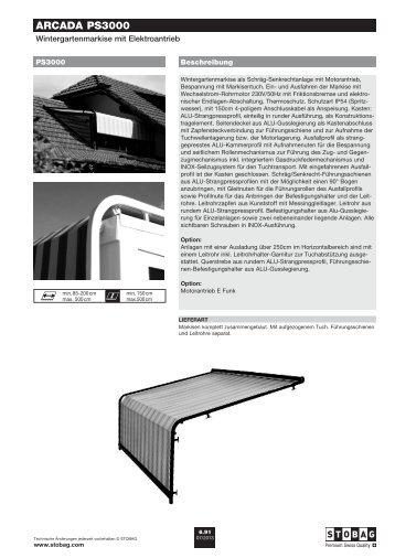 ARCADA PS3000 - Stobag