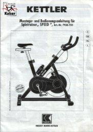 und Montageanleitung - Speed 2002 / 2003 - Fahrrad Kaiser Gmbh
