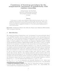 Consistency of bootstrap procedures for the nonparametric ...