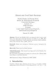 Almost sure local limit theorems - Institut für Mathematische Stochastik