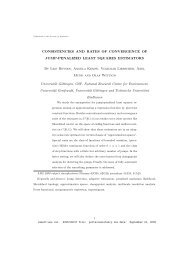 CONSISTENCIES AND RATES OF CONVERGENCE OF JUMP ...