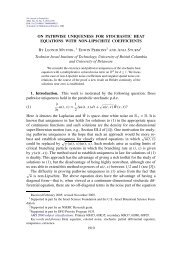 On pathwise uniqueness for stochastic heat equations with non ...