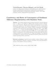 Consistency and Rates of Convergence of Nonlinear Tikhonov ...