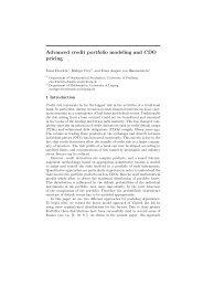 Advanced credit portfolio modeling and CDO pricing