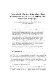 Analysis of Markov chain algorithms on spanning trees, rooted ...