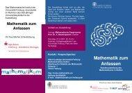 Ausstellung 2007 - Abteilung für Mathematische Stochastik - Albert ...