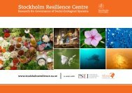 Download centre brochure - Stockholm Resilience Centre