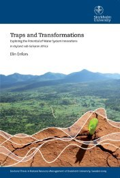 Traps and Transformations - Stockholm Resilience Centre