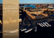 The STockholm memorandum - Nobel Laureate Symposium on ...