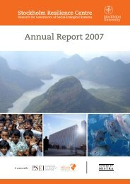 Read Annual Report 2007 - Stockholm Resilience Centre