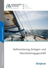 Skriptum Refinanzierung, Einlagen- und ... - Bankenkolleg.at