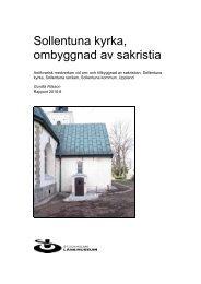 Sollentuna kyrka, ombyggnad av sakristia - Stockholms läns museum