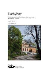 Kulturmiljöanalys av Ekebyhovs slott - Ekerö kommun