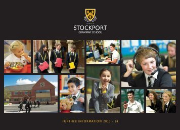 Download the further info booklet (pdf) - Stockport Grammar School