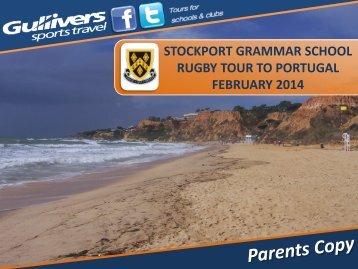 Tour guide details (pdf) - Stockport Grammar School
