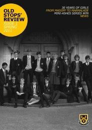 Issue one, spring 2011 - Stockport Grammar School