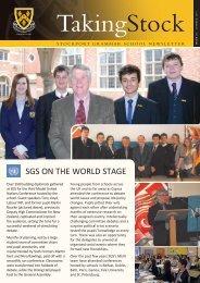 TakingStock - Stockport Grammar School