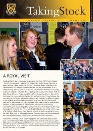 Taking Stock issue 47, winter 2010/2011 - Stockport Grammar School