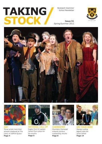 TAKING STOCK - Stockport Grammar School