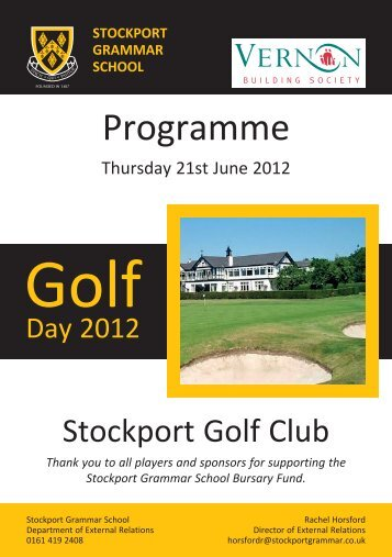 Download the golf day programme 2012 (pdf) - Stockport Grammar ...