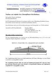 Neubau von Asphalt- bzw. Betonpflaster-Stockbahnen