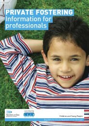 PRIVATE FOSTERING Information for professionals