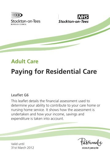 G06 - Paying for residential care - Stockton-on-Tees Borough Council